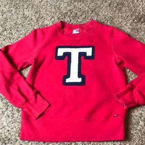 Tommy Jeans Red Sweatshirt with Logo